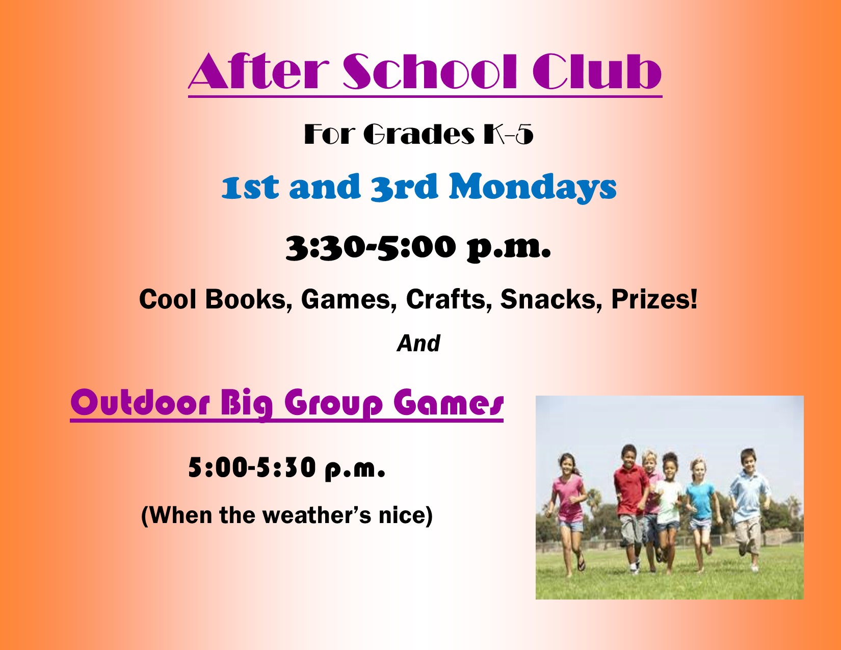 After School Club for spring