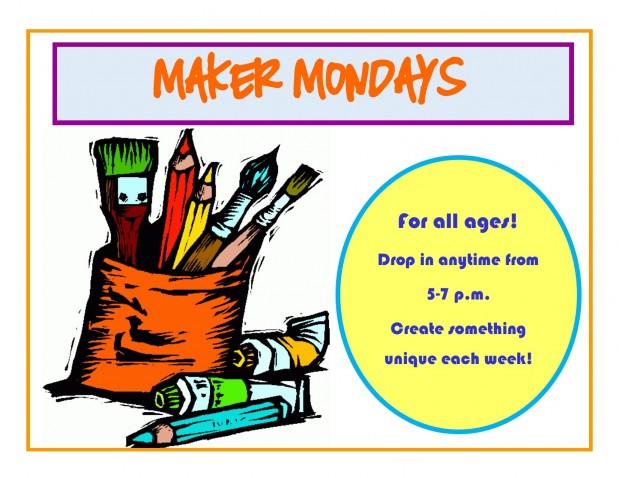 Maker Monday signs - horizontal