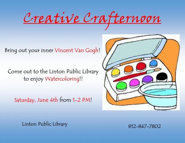 Creative Crafternoon June