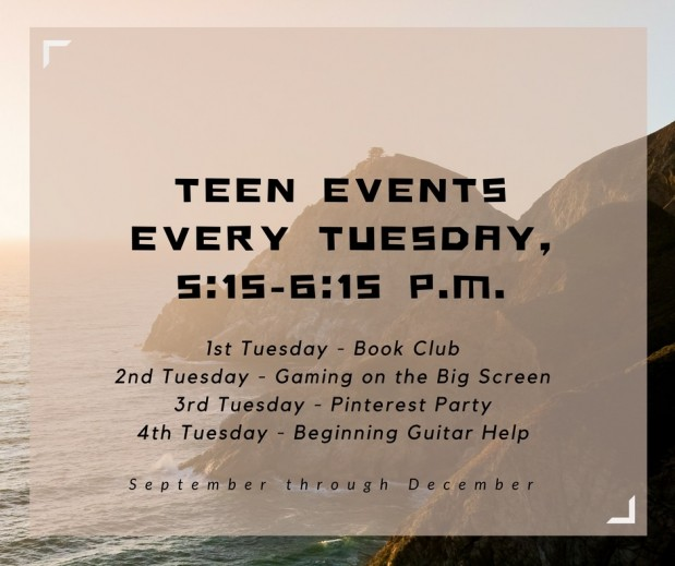 Teen Events Fall 2016