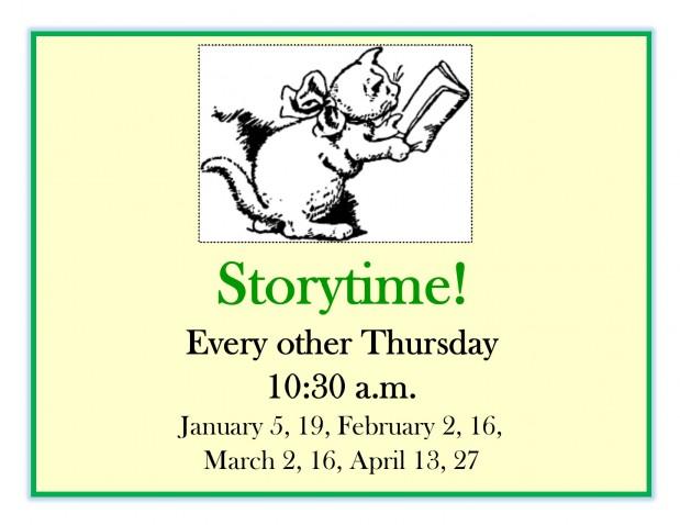 Storytime - Spring 2017