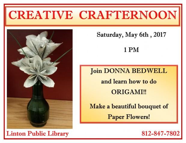 Creative Crafternoon May 2017