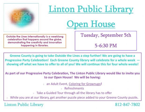 Linton Public Library Open House