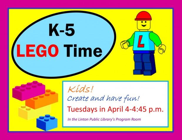 K-5 Lego Time - 4/2018