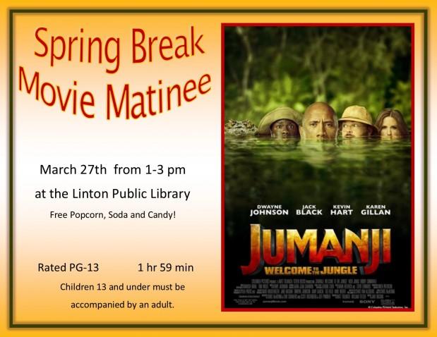 Spring Break Movie Matinee Jumanji