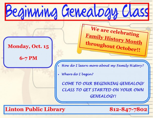 Beginning Genealogy Class