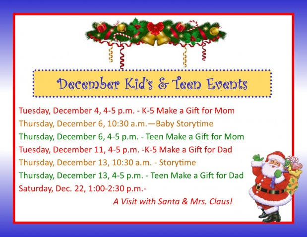 December Events for Kids