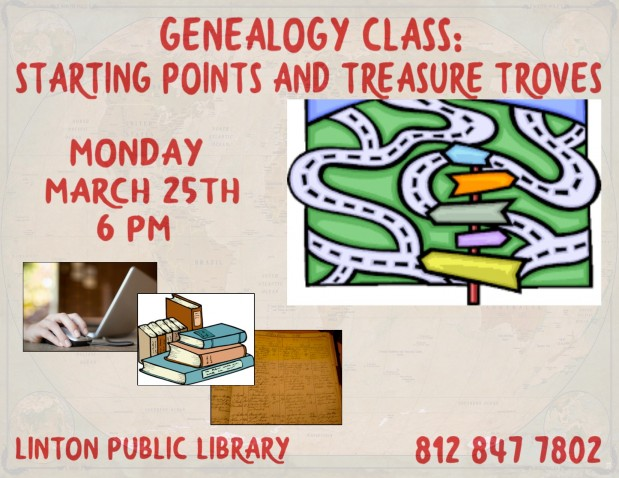 Genealogy Class: Starting Points & Treasure Troves