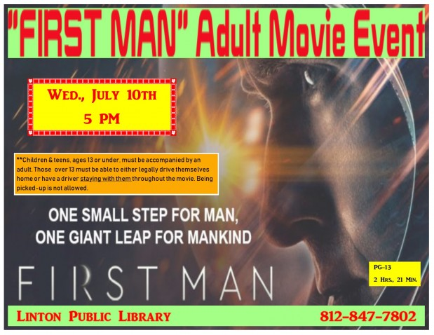 FIRST MAN Adult Movie Event