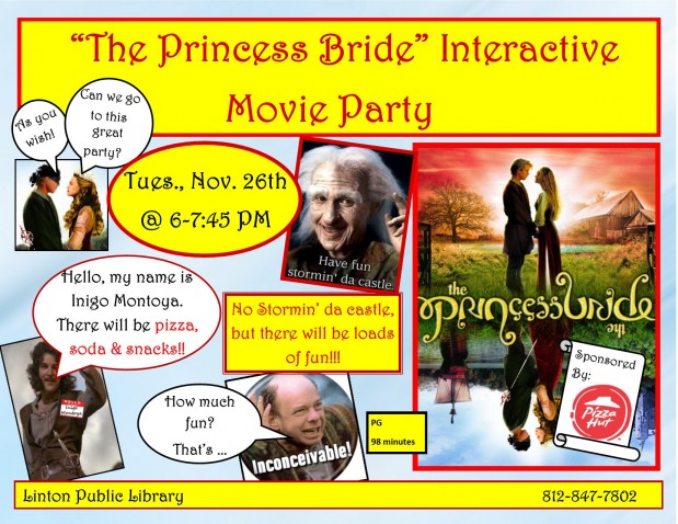 Princess Bride Interactive Movie Party
