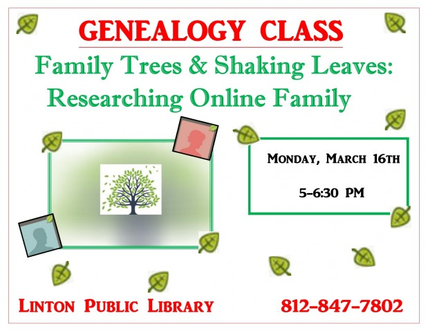 Genealogy Class: Family Trees & Shaking Leaves