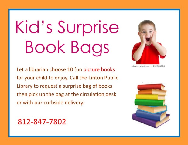 Surprise Book Bag Sign