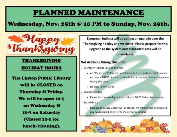 Upgrade and Holiday Hours