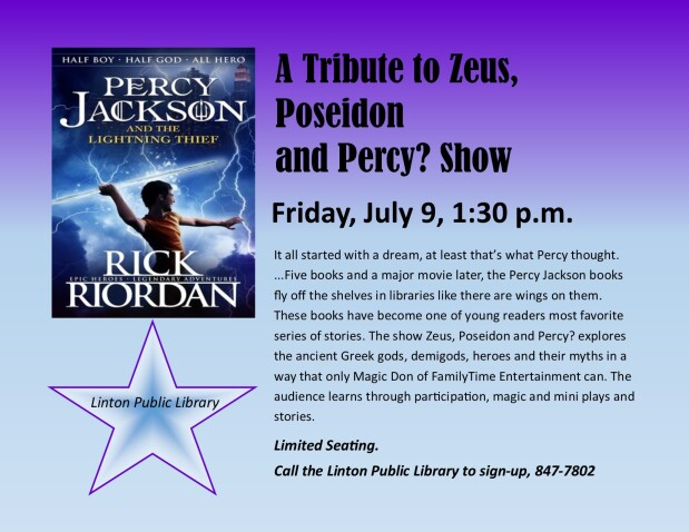 Percy Jackson Show sign