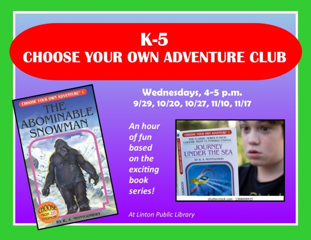 K-5 Choose Your Own Adventure Club